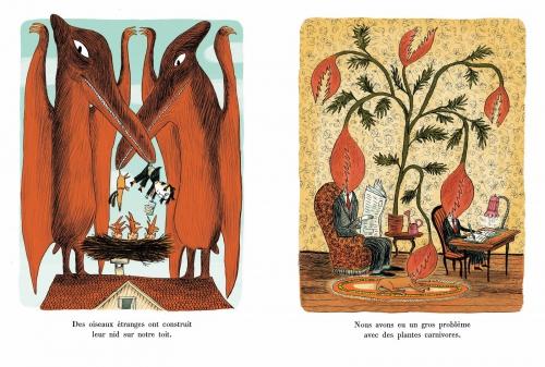 Je n'ai pas fait mes devoirs parce que... Davide Cali Illustrations : Benjamin Chaud Editions hélium, sandales d'empédocle, besançon
