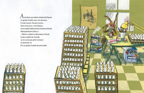 l'atelier de pâques,éditions nordsud,friederike rave,sandales,amandine gaudry